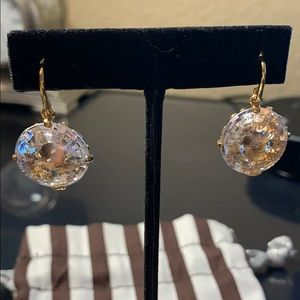 Henri Bendel French Wire Large Crystal Earrings 💎